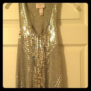 SALE! Romeo & Juliet Couture grey tank top small